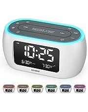 Housbay Glow Small Alarm Clock Radio for Bedrooms