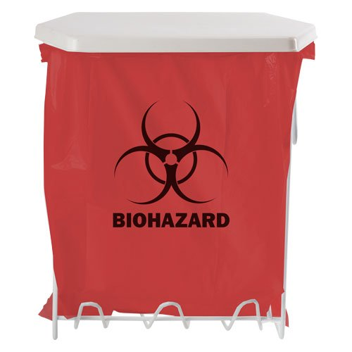 BOWMAN - Biohazard Bag Holder - 3 Gallon 11.75''W x 15.25''H x 8.00''D (9 Pack)