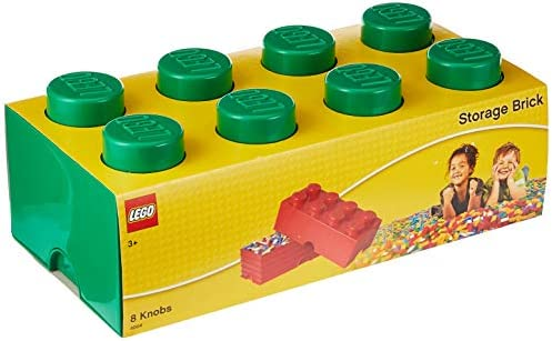 LEGO 40040634 - Caja en Forma de Bloque 8, Color Verde: Amazon.es ...