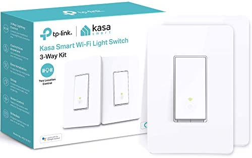 Kasa Smart HS210 KIT 3 Way Smart Switch Kit via TP-Link, Wi-Fi Light Switch works with Alexa and Google Home, Neutral Wire Required, No Hub Required, UL Certified, 2-Pack