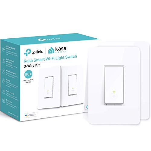 Kasa 3 Way Smart Switch Kit by TP-Link, Wi-Fi Light Switch works with Alexa and Google Home, Neutral Wire Required, No Hub Required, UL Certified, 2-Pack