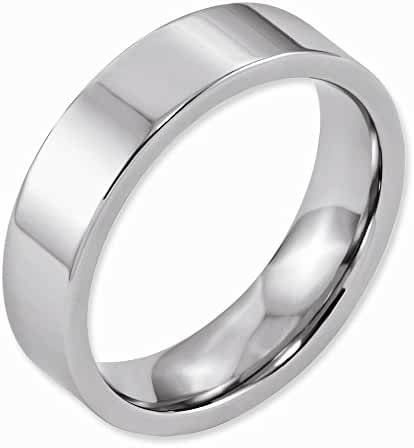 Jewelry Best SellerCobalt Flat Polished 6mm Band
