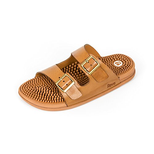 Men Sandals Tan Support Arch Absorbing Cushion Shock Comfort Revs amp; amp; for Women Reflexology Sandals Seva waxAUqtnpX