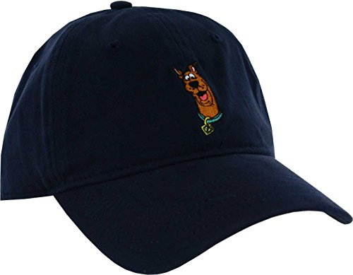 T-shirt Embroidered Hat (Warner Bros.. Men's Scooby-Doo Baseball Cap, Embroidered Character Art, Navy, One Size)