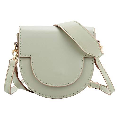 New Women Crossbody Bag Small Fresh Saddle Bag for Teens Girl Retro Style Simple Chain Girl Shoulder Handbag Sac A Main,Green,Mini(Max Length less 20cm)