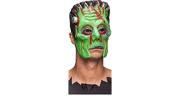 Mens Frankenstein 3//4 Face Latex Halloween Fancy Dress Costume Outfit Mask