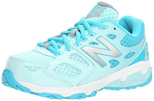 Image of the New Balance Girls' 680 V3 Running Shoe, Blue 1/White, 7 W US Big Kid