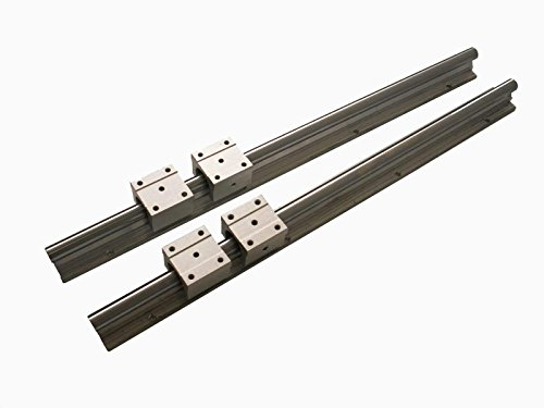 Joomen CNC SBR16-1000mm LINEAR SLIDE GUIDE 2 RAIL+ 4 SBR16UU BEARING BLOCK (Pinion Block)