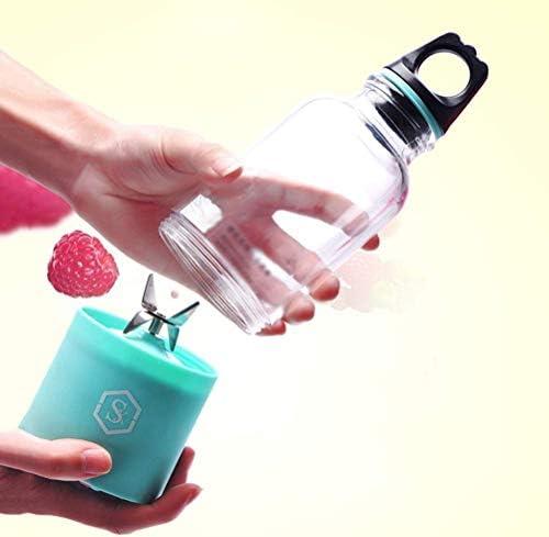 Licuadora Mezclador Portátil Personal Small Juicer Cup Usb Recargable Hogar Fruta Exprimidor de Frutas Fabricante Extractor de Frutas 4 Cuchillas 500 Ml, O&YQ