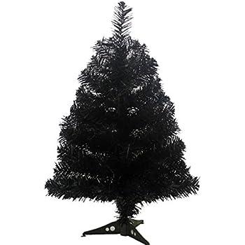 prettybuy christmas tree with plastic stand2 feetpvc black - Black Christmas Trees