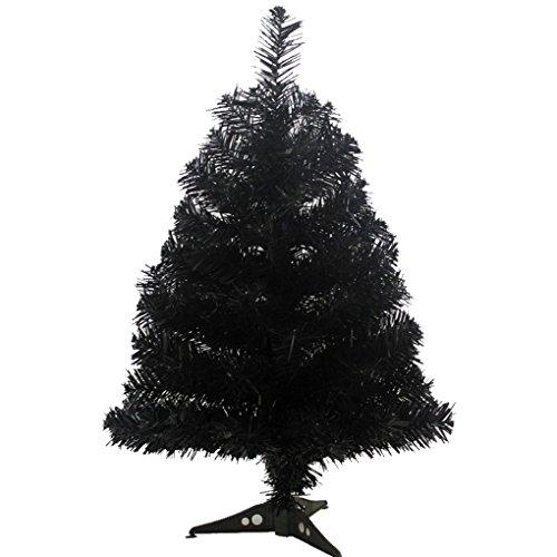 Prettybuy Christmas Tree with Plastic Stand,2-feet,pvc (Black)