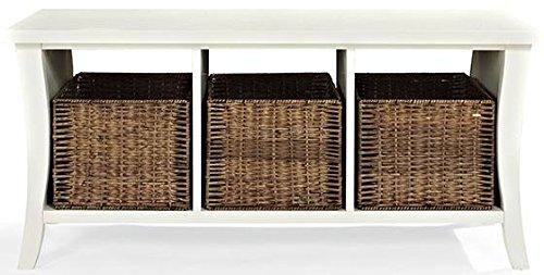 Crosley Furniture Wallis Entryway Storage Bench - White