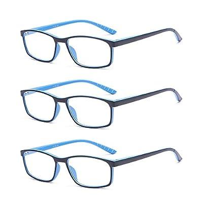 SUERTREE Anti Blue Reading Glass 3 Pack Computer Glasses Men Women Comfort Anti Rays Eyewear BM141