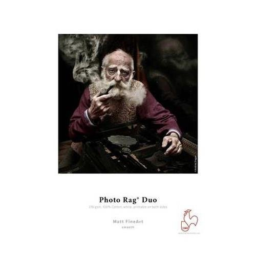 Hahnemuhle Photo Rag Duo, 100 % Rag, Bright White Matte Inkjet Paper, Coated 2 Sides, 276 g/mA, 11x17