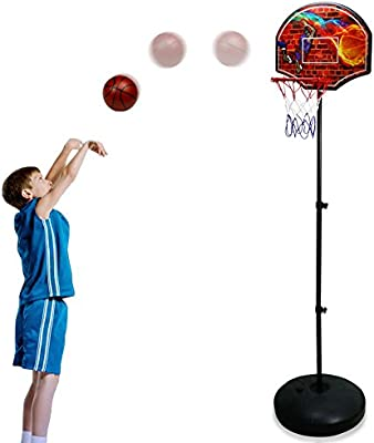 Canasta Baloncesto Infantil Altura Ajustable Exterior y ...