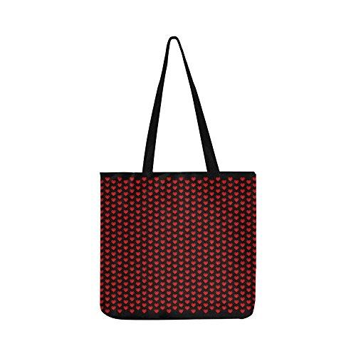 Banner Desktop Hearts Red Wall Holiday Design Canvas Tote Handbag Shoulder Bag Crossbody Bags Purses For Men And Women Shopping Tote ()