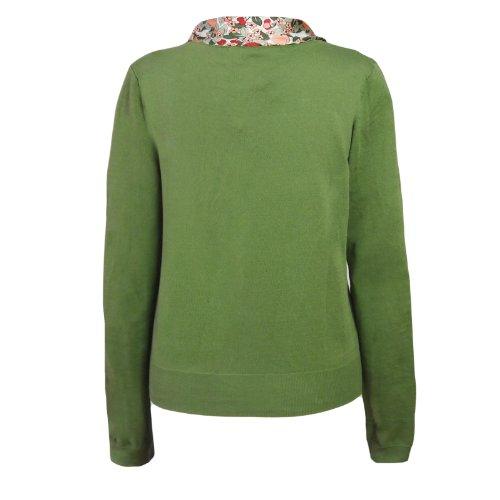Nice Things Fruit Cardigan Silk bufanda verde Verde