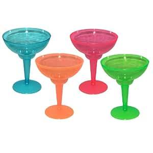 Creative Party - Copa de plástico fluorescente para margarita (12 unidades, 35cl aprox.), varios colores