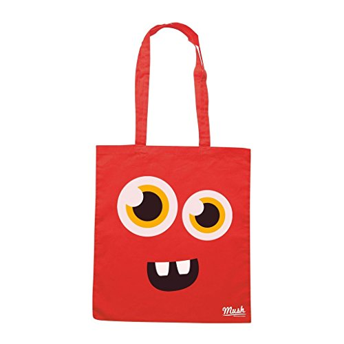 Borsa FACE MONSTER HAPPY - Rossa - DIVERTENTE by Mush Dress Your Style