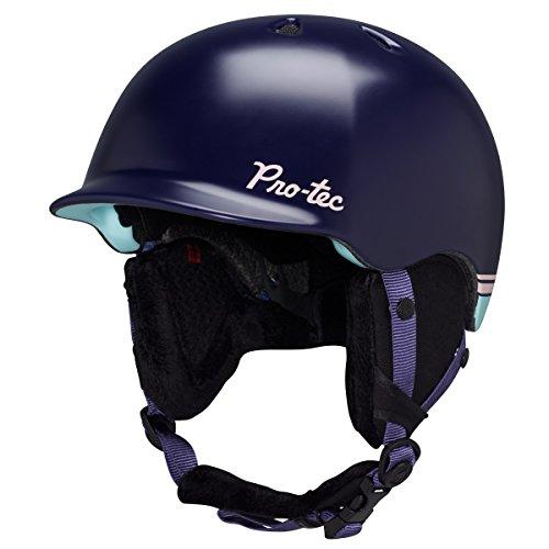 Audio Force Helmet - Pro-tec Scandal Audio Force Helmet, Large, Snow Dark Purple/Teal
