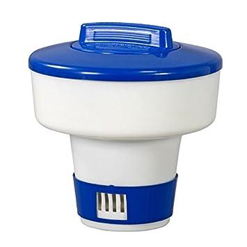 dosificadora flotador para 200g-Pastillas de cloro con anilla: Amazon.es: Jardín