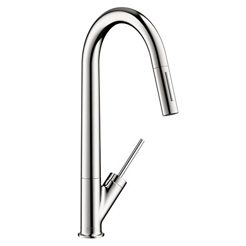 Axor 10821001 Starck HighArc Kitchen Faucet with Glory Glaze Stainless Steel and Chrome Cleaner and Stainless Steel Polish, Chrome