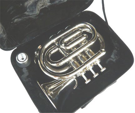 New Nickel Pocket Trumpet w/case-Approved+Warranty by other