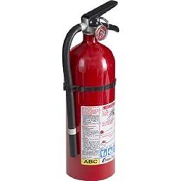 Kidde 21005779 Pro 210 Fire Extinguisher, ABC, 160CI, 4 lbs, 1 Pack