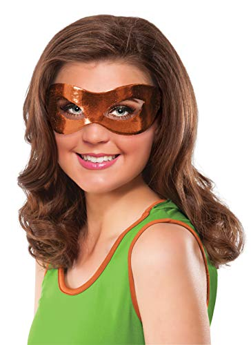 Rubie's Costume Co Women's Teenage Mutant Ninja Turtles Classic Michelangelo Eye Mask, Orange, One Size