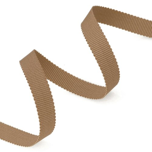 - Grosgrain Ribbon 3/8-Inch Taupe by 50 Yards