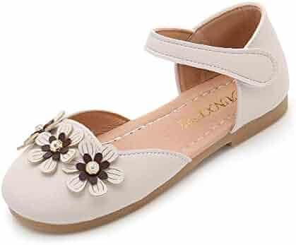 5b5896e51f95 QHF Kids Princess Uniform School Ballet Flower Mary Jane Girls Flats Dress  Shoes