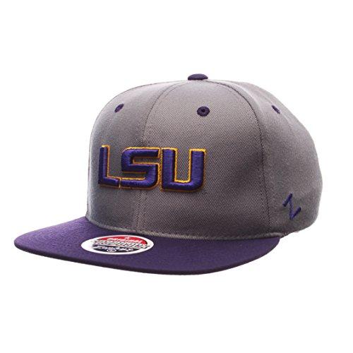 Zephyr NCAA LSU Tigers Men's Z11 Slate Snapback Hat, Grey/Purple, (Tigers Slate)