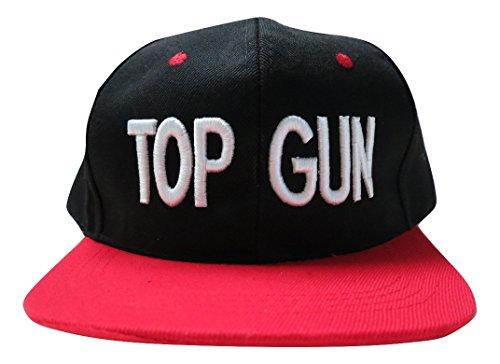 TrendyLuz Top Gun Adjustable Snapback Flat Bill Hat Baseball Cap -
