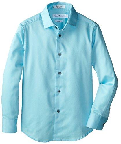 calvin klein teal dress shirt - 1