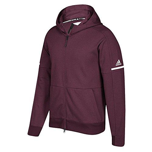 Adidas Spil Bygget Trup Id Fuld Lynlås Hoodie Maroon-hvid d6o9DDkmiz