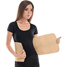 "Elastic Abdominal Binder / Postpartum & Post Operative Belly Wrap - Beige, Small, Waist 28"" - 31½"""