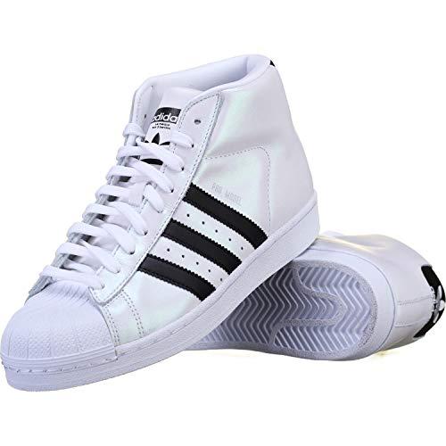 adidas Mens Pro Model Mens Basketball Shoes (11.5, Footwear White/Core Black/Core -