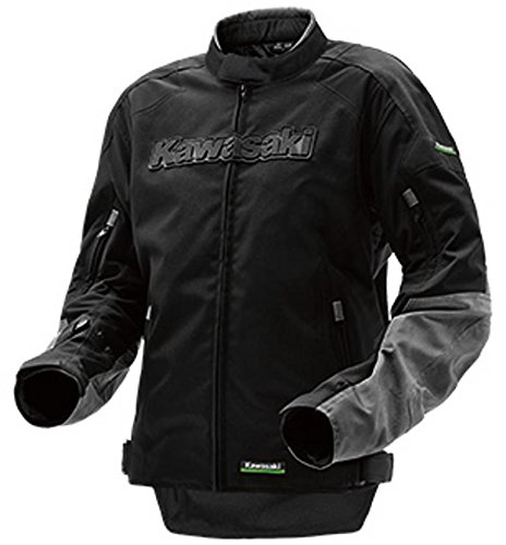 Kawasaki Limited Edition Riding Textile Jacket Black Grey ()