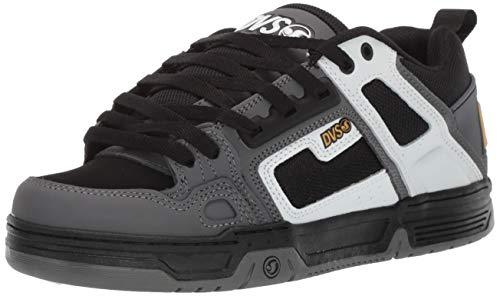 DVS Men's Comanche Skate Shoe, White Charcoal New Black, 11.5 Medium US