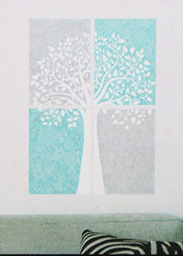 Chartwell Main Street Wall Creations-Gray and Blue Tree