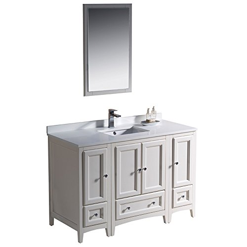 Fresca FVN20-122412AW-FFT1053CH Oxford Traditional Bathroom Vanity, 48