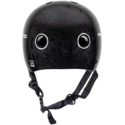 Pro Tec Classic Certified Helmet - Black Metal Flake - MD : Sports & Outdoors