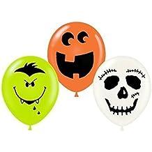 Halloween Fun Faces Assortment 11 inch latex Pkg/12