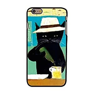 LIMME Beer Cat Style Plastic Hard Back Cover for iPhone 6 Plus
