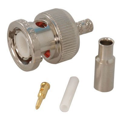 AMPHENOL 31-315-RFX RF/COAXIAL, BNC PLUG, STRAIGHT, 50 OHM, CRIMP; CONNECTOR TYPE:BNC COAXIAL; CONNECTOR BODY STYLE:STRAIGHT PLUG; COAXIAL TERMINATION:CRIMP; IMPEDANCE:50OHM; COAXIAL CABLE TYPES:RG174