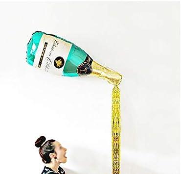 Wisilan Globos de fiesta con forma de botella de champán, globos ...