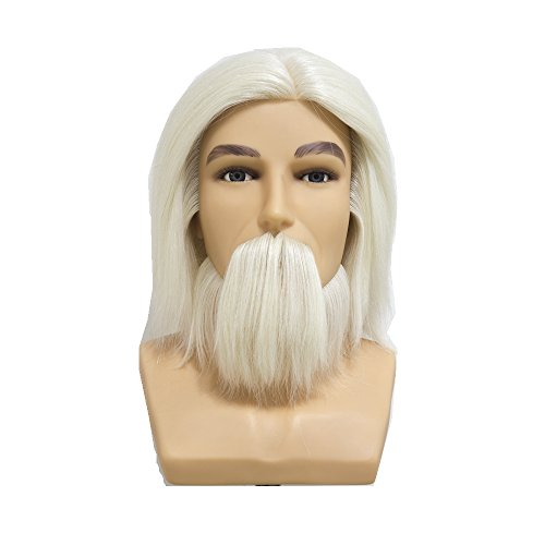 HAIR WAY 100% White Wool Male Mannequin Head with Beard and Shoulder 7inches Hairdresser Training Head OMC Appointed Competition Head Manikin Cosmetology Doll Head #0 - Mannequin Competition