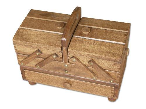Aumueller - Scatola da cucito, in legno di faggio, dimensioni: 34 x 16 x 28 cm, colore: legno 31/247/2