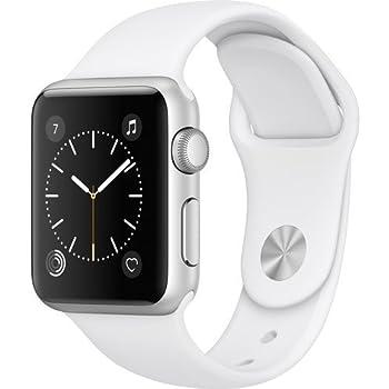 Apple Watch Series 1 Smartwatch 38mm Silver Aluminum Case, White Sport Band (Renewed)