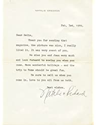 Natalie Wood - Typed Letter Signed 02/03/1970